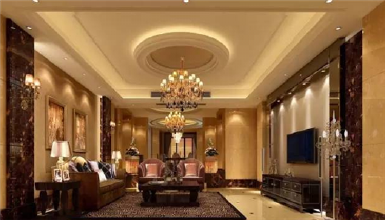 客厅吊顶灯带有哪些效果 客厅吊顶灯带效果图