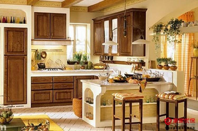 大户型厨房装修效果图 面积大就是任性